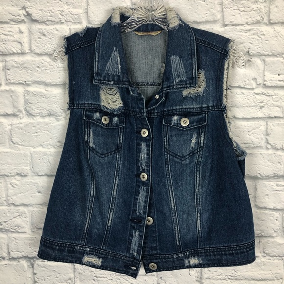 88db52a1ae5b Highway Jeans Jackets & Blazers - Highway jeans jean distressed vest plus  size
